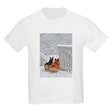 Corgis in Winter T-Shirt
