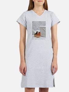 Corgis in Winter Women's Nightshirt