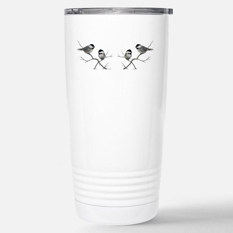 chickadee birds Travel Mug