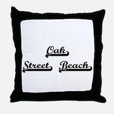 Oak Street Beach Classic Retro Design Throw Pillow