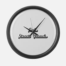 Oak Street Beach Classic Retro De Large Wall Clock