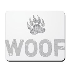 Gay Bear Pride distressed Bear Paw WOOF Mousepad