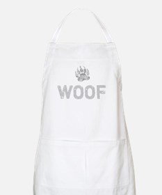 Gay Bear Pride distressed Bear Paw WOOF Apron