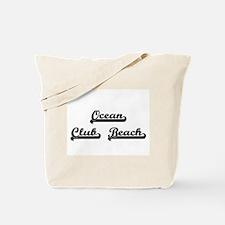 Ocean Club Beach Classic Retro Design Tote Bag