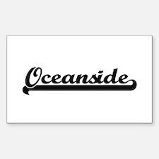 Oceanside Classic Retro Design Decal