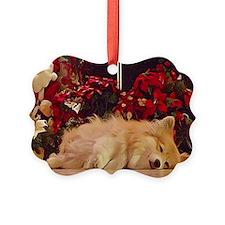 Sleepy Christmas Corgi Ornament