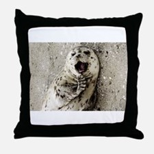 Harbor Seal Pup Throw Pillow