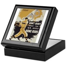 baseball art Keepsake Box