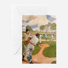 baseball art Greeting Cards
