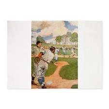 baseball art 5'x7'Area Rug
