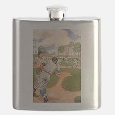 baseball art Flask