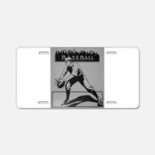 baseball art Aluminum License Plate