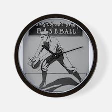 baseball art Wall Clock