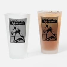 baseball art Drinking Glass