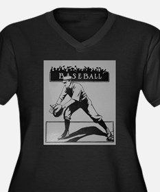baseball art Plus Size T-Shirt