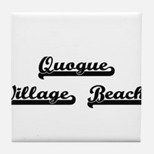 Quogue Village Beach Classic Retro De Tile Coaster