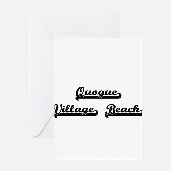Quogue Village Beach Classic Retro Greeting Cards