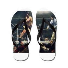 boxing art Flip Flops