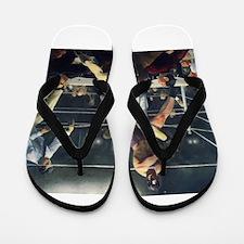boxing art Flip Flops