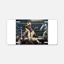 boxing art Aluminum License Plate