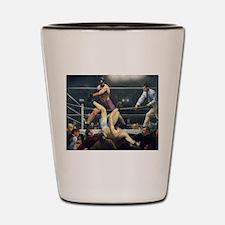 boxing art Shot Glass