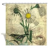 Paris daisy Shower Curtains
