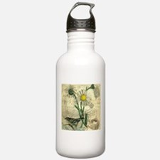 Vintage Daisy and bird Water Bottle