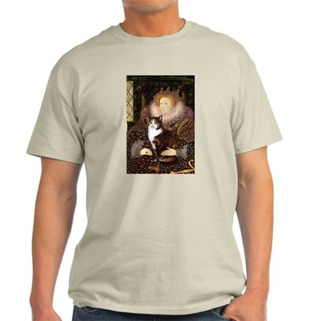 The Queen's Calico Cat (#1) Light T-Shirt