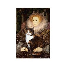 The Queen's Calico Cat (#1) Rectangle Magnet
