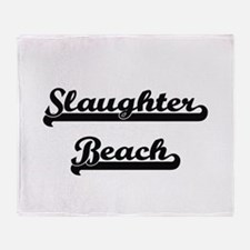 Slaughter Beach Classic Retro Design Throw Blanket