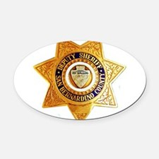 sbso.png Oval Car Magnet