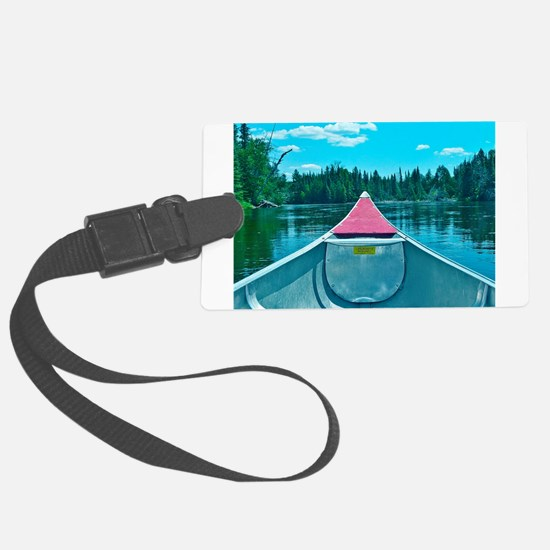 Canoe on River Luggage Tag