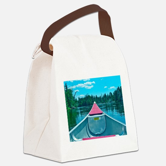 Canoe on River Canvas Lunch Bag