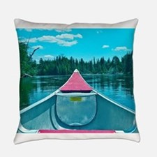 Canoe on River Everyday Pillow