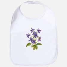 Purple Violets Bib