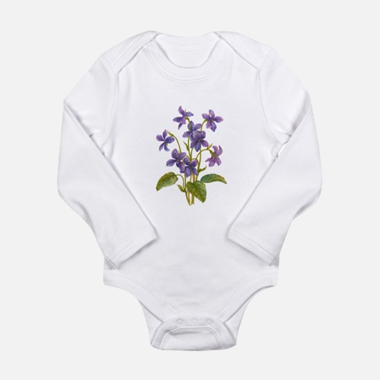 Purple Violets Baby Outfits