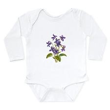 Purple Violets Long Sleeve Infant Bodysuit