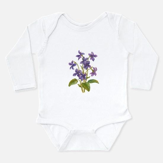 Purple Violets Onesie Romper Suit