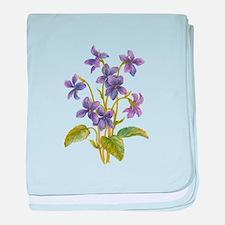 Purple Violets baby blanket