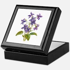 Purple Violets Keepsake Box