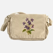 Purple Violets Messenger Bag