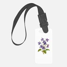 Purple Violets Luggage Tag