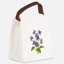 Purple Violets Canvas Lunch Bag