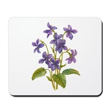 Purple Violets Mousepad