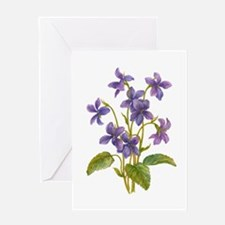 Purple Violets Greeting Card
