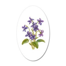 Purple Violets Wall Decal