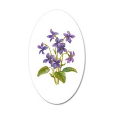 Purple Violets 35x21 Oval Wall Decal