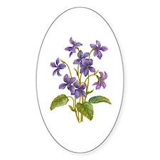 Purple Violets Decal