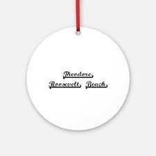 Theodore Roosevelt Beach Classic Ornament (Round)