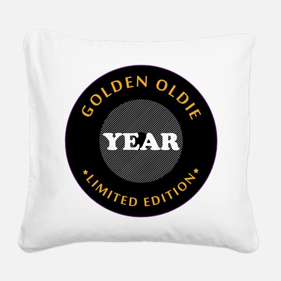 Personalized Birthday Limited Square Canvas Pillow